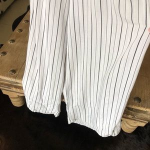 Flying Tomato Pants - Flying Tomato black white tie front jumpsuit XS